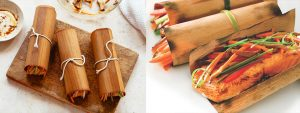 Wraps foglia di legna per aromatizzare